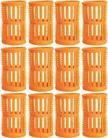 Hair Setting Rollers & Plastic Pins For Curls PEACH 40mm diameter Pk 12 Skelox