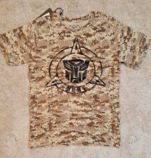 TRANSFORMERS HASBRO universal studios t shirt military camouflage camo S