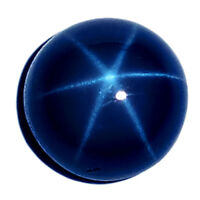 5mm/6mm 6 Rays Natural Blue Star Sapphire Round Cabochon Loose stone Jewelry NEW