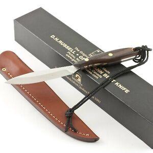 Grohmann Trout & Bird Belt Knife D.H. Russell Canada Rosewood Handles Sheath