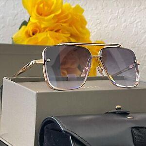 NEW Authentic DITA DMACH-SIX DTS-121 -black Gold/Gray Men's Sunglasses 62 mm