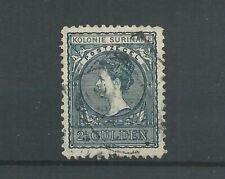 Suriname  57 Wilhelmina 2,5 Gld  VFU/gebr  CV 75  €