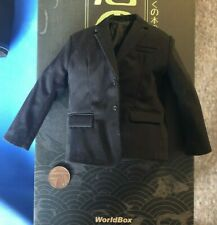 WORLDBOX Japanese Gangs Obstacle Black Suit Jacket loose 1/6th scale