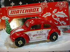 2019 Happy Holidays '62 VOLKSWAGEN BEETLE ☆Red VW; WONDERLAND 🎅Matchbox LOOSE