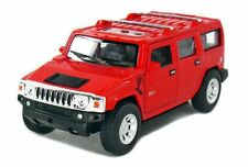 "5"" New Kinsmart 2008 Hummer H2 SUV 1:40 Diecast Toy Car Model Pull Action RED"