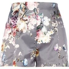 Floral Shorts Plus Size High for Women