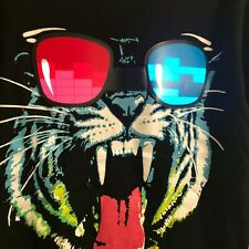 LED T-Shirt Sound Activated  TIGER Glow Shirt Light up Equalizer Party Clothes