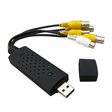 USB 2.0 DVR CCTV Capture Card Video/Audio Recorder Adaptor 4 Channel Record