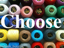 24 Anchor Pearl  Cotton Crochet Embroidery Thread Balls. Choose Colours Send Msg