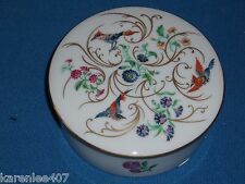 Reuge - Limoges Porcelain Music Box Bird - Floral & Gold accents Floral Design