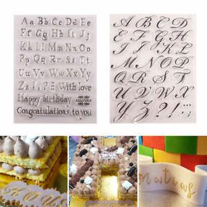Letter Alphabet Cookie Biscuit Stamp Cutter Fondant Embosser Cake Biscuit Mould