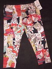 Girl 12 Months Cat Santa Christmas Leggings Pants Lol Vintage Polyester Kitty