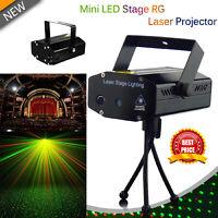 Sound Activated LED RG Disco DJ Light Laser Strobe Projector Light Party Club AU