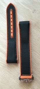 New ! Watch Band To Fit OMEGA Planet Ocean.Strap Rubber / Nylon 22 mm & Clasp