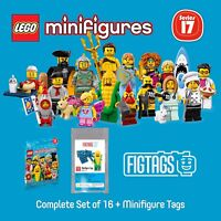 LEGO 71018 Minifigures Series 17 + FIGTAGS Minifigure Tags Bundle