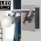 LED Wand Leuchte Chrom Spot Strahler verstellbar Wohn Zimmer Beleuchtung Lampe