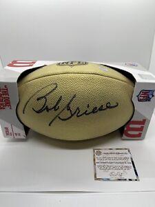 Bob Griese Signed Wilson Duke Gold Full Size NFL Football -Dolphins Schwartz COA