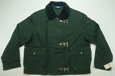 Rare VTG POLO RALPH LAUREN Toggle Corduroy Collar Denim Jacket 90s NWT Black XL