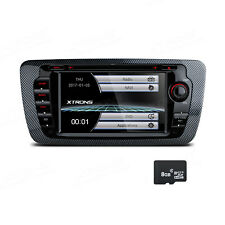 "2 DIN Autoradio GPS Navi DVD 8GB TF Bluetooth 7"" Touch für SEAT IBIZA 2009-2013"