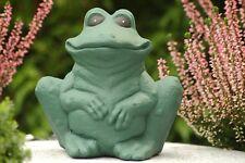 Steinfigur Frosch, Gartenfigur Gartendeko Geschenk Figur Steinguss Tierfigur