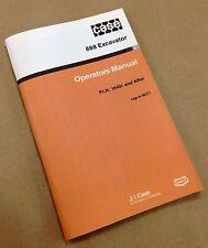 J I CASE 888 EXCAVATOR OPERATORS OWNERS MANUAL OPERATION SERVICE CONTROLS 9-1637