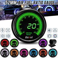 "2"" 52mm Car Air Fuel Ratio Gauge AFR Meter Digital 10 Colors Digital LED"
