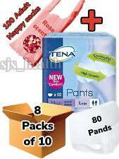 TENA Pants Maxi Large 8 Packs Of 10 Adult Incontinence 80 Pants L Pull Up