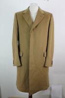 "AQAUSCUTUM Beige Wool & Cashmere Overcoat Chest size 42"""