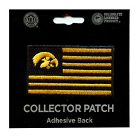 Iowa Hawkeyes Flag Iron On Embroidered Patch