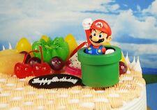 Cake Topper NINTENDO SUPER MARIO BROS FIGURE TOY MODEL DIORAMA K1113_D