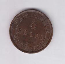 Papal States 4 Soldi - 20 Centesimi 1869R Rome-Anno XXIV Pius IX