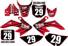 2004-2016 HONDA CRF 50 Graphics Kit Custom Number Plates Red Lines XR50.com