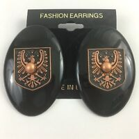 Vintage Funky Thunderbird Earrings 90s NOS Fashion Pierced Big Statement Copper