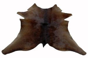 """Cowhide Rugs Calf Hide Cow Skin Rug (27""""x27"""") Black Brown  CH5263"""