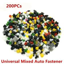 200Pcs Mixed Car Door Bumper Fenders Fastener Retainer Rivet Push Pin Clip