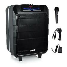 Portable Active PA Bluetooth Loudspeaker Speaker System Karaoke Microphone