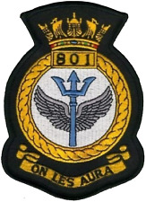801 NAS Naval Air Squadron Royal Navy FAA Crest MOD Embroidered Patch