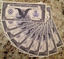 MILLION DOLLAR BLACK EAGLE NOVELTY BANKNOTES LOT OF (10) FROM A USA SELLER !!