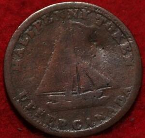1820 Upper Canada 1/2 Penny Bank Token Foreign Coin