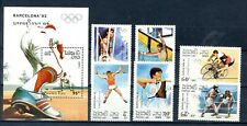 "1989 LAOS, Set and Sheet ""OLIMPIADAS BARCELONA´92, BARCELONA OLYMPIC 92 "" MINT"