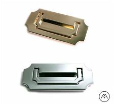 Campaign Furniture Hardware Recessed Handle Pull - Polished Brass, Chrome, Black