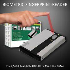 Biometric Fingerabdruck HDD Gehäuse für 2,5-Zoll-Festplatte IDE (Ultra ATA/DMA)