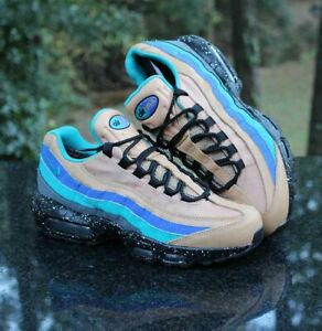 Nike Air Max 95 Men's Size 8 Premium Mega Blue Tan 538416-204