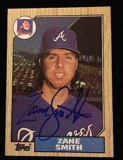 ZANE SMITH 1987 TOPPS Autograph Signed AUTO Baseball Card 544 BRAVES