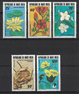 HAUTE-VOLTA:1996 SC#601-05(5) MNH - Flowers