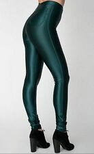 SOLD OUT American Apparel Shiny Forest Disco Pant Size M Medium Slim Skinny