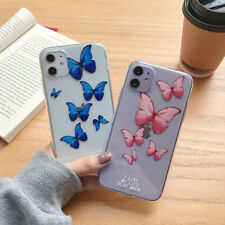 Phone Case Clean Butterfly Soft TPU Cover For iPhone 11 Pro Max 6s 8Plus SE 2020