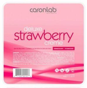 Caron Caronlab Strawberry Cream Creme Hard Hot Wax Pallet Tray Hair Removal 500g