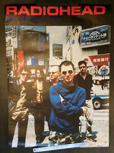 Radiohead OK Computer band in Japan original vintage 90s poster