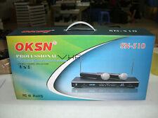 Set of 2 New VHF Wireless Microphone. Great for Karaoke !